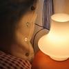 寝室にちょうど良いガラスのランプ