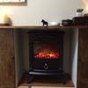 暖炉ヒーターに合う場所を作ってみました。