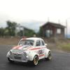 FIAT 500に乗って、小さい無人駅。薮神駅
