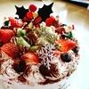 クリスマスケーキは、こんな風に作りました。