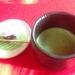茶室でいただくお抹茶とお茶受けが美味