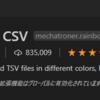 Visual Studio Code(VSCode) 拡張機能 Rainbow CSVについて