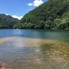 水遊び(佐久ダム湖)