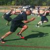 フィールドスポーツ選手のスプリント(フィールドスポーツ選手を対象とするプログラムとしては、近最大または最大スピードが達成されうる15~35mのスプリントをトレーニングに含めるなどして、直線スプリント能力を向上させるような十分な刺激を提供すべきとされている)