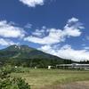 岩木山と旧百沢小学校
