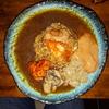 【wacca】関目で濃厚具材の海鮮カレーを頂きました。あっさり目のチキンカレーとあん肝やカニ、雲丹イクラの組合せはおいしい。