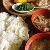 お素麺には野菜たっぷりのつけ汁で!茄子と玉ねぎの卵とじ汁〜レンジで5分のトウモロコシ