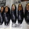 靴磨き,革靴のアッパーの傷を補修する その3