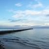 西表島は曇り空