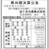 加ト吉本舗株式会社 第46期決算公告