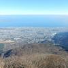 鶴見岳の展望台から別府湾を望む:大分県別府市