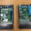サーバーの2.5インチHDDトレイ(HP)でラズピッピコンピュートカートリッジ(?)