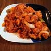 ピーマン×玉ねぎ×人参×かぼちゃ×蒟蒻×ソーセージじゃがいもの組み合わせで摂れる栄養!