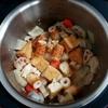 ホットクックで厚揚げと大根の煮物(白だし+めんつゆ+醤油)のレシピに挑戦