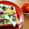 目玉焼きカルパストーストの作り方【朝ごパンプレートレシピ】