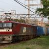 貨物列車撮影 4/12 キンタ2次型充当5971レ、コキ100-1入り1152レなど