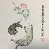 南天の白い花 ~猫の藪入り