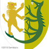 獅子の紋章、竜と対決。