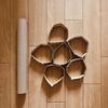 高齢者(在宅介護)レクリエーションでラップの芯とダンボールを使って簡単『輪っかすくいゲーム』