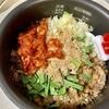 炊飯器で作る!牛肉とキムチの【ビビンバ風】炊き込みご飯