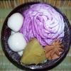 セブンのスイーツ新商品 紫いもとほうじ茶の和ぱふぇ