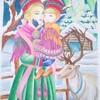 サーミ族の塗り絵と水彩色鉛筆の悩み。