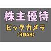 【株主優待】ビックカメラ(3048)株主優待券。クリスマスプレゼントを買う【自己責任】