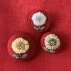 小さな花刺繍ブローチ 作り方