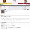 2019-05-18 カープ第42戦(甲子園)◯4対0 阪神(23勝18敗1分)ジョンソン6回無失点、西川3ラン、バティスタソロホームラン。