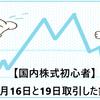 【国内株式初心者】2021年7月16日と19日取引した銘柄の記録