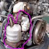 K6AエンジンOH(補器類を外す#3 キャタライザ&サーモケース)