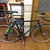 タダで貰ったロードバイクのハンドルをブルホーンに戻した(・o・)