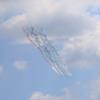 2021年7月23日 ブルーインパルスがカラースモークで線を描いた瞬間