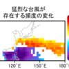 このまま温暖化が進むと猛烈な台風は地球全体では減るが、日本近海では1.6倍に増加する!!