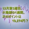 12月第3週。日経平均の動きをまとめた。次のポイントは19,274円?