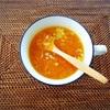 すりおろしニンジンのスープ