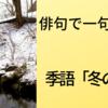 俳句で一句 季語「冬の川」