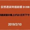 【Binance が週足20MA 上抜いた】2019/2/10 仮想通貨時価総額 $120B