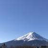 楽しいお散歩と富士山の雪