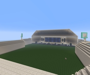 【マイクラ・建築】すごくシンプルなライブ会場を作りました。【作成時間もそれほどかかりませんでした】