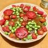いつもの麺に夏らしい彩りを。枝豆のジュレとトマトのそうめん。