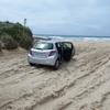 砂浜で立ち往生@コフスハーバー