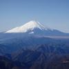 丹沢塔ノ岳~写真記録・正月の富士山~塔ノ岳・丹沢山からみた姿