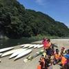 カヌー初体験 出口夏祭り