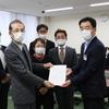 26日、県商工団体連合会の大会に出席。県復興共同センターが県に汚染水海洋放出反対で申し入れ