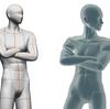 クリップスタジオの3Dデッサン人形とデザインドールを比べてみました