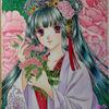 「花萌の姫」A5サイズ漢服姫完成報告:アナログ絵のカラーチェンジは難しい