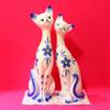 リサイクルショップで見つけた可愛いペア猫置物