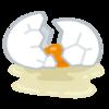 揺れる生卵🥚と自転車🚲