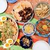 今日の晩ごはん:油淋鶏、豚軟骨の唐揚げ、マグロ納豆ユッケなど